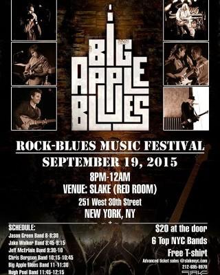 Big Apple Blues festival being held slakenyc is this Saturdayhellip